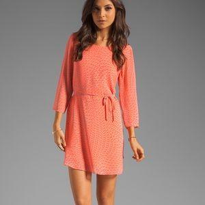 Rory Beca   Mini Dress   Silk   Coral & Grey   M